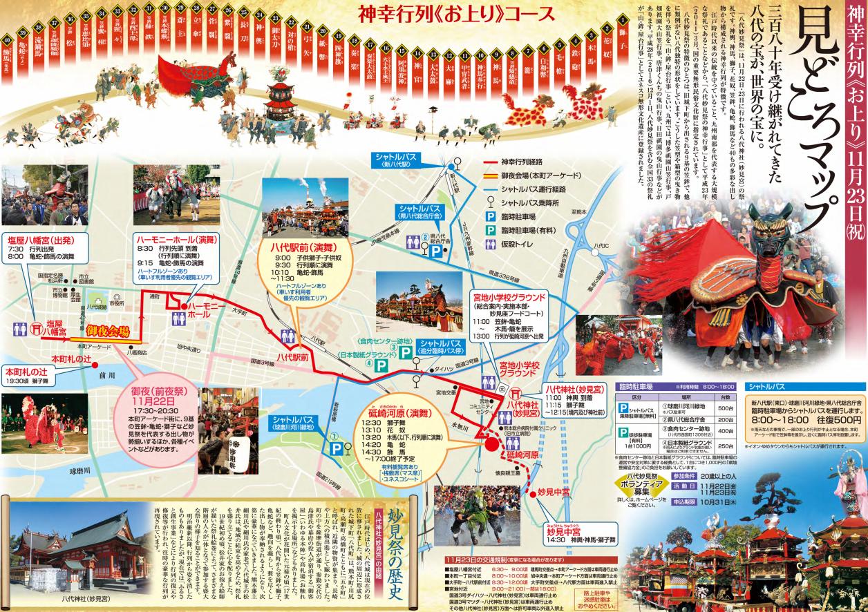 八代妙見祭2019会場マップ
