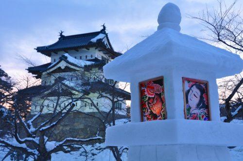 弘前城雪燈籠まつり雪燈籠