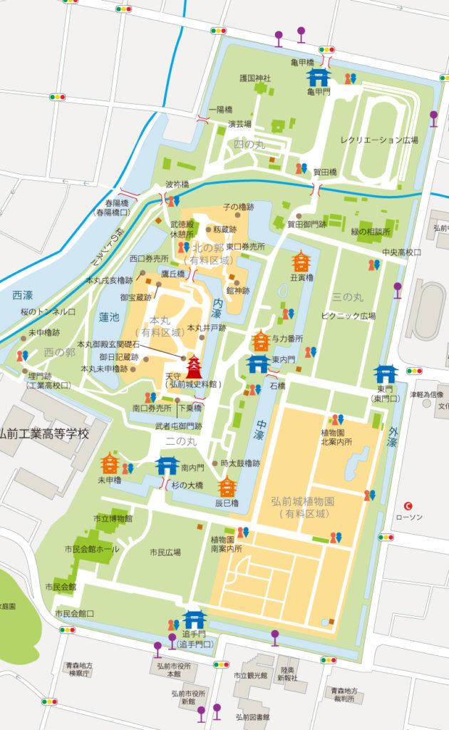 弘前公園マップ