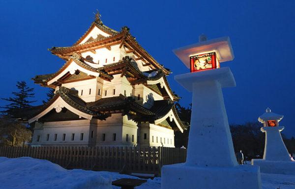 弘前城雪燈籠まつり1