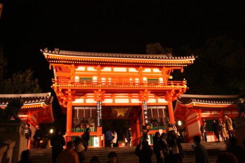 東山花灯路八坂神社
