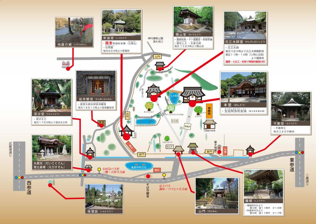 深大寺境内マップ