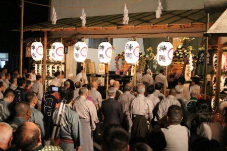 三社祭本社神輿神霊入れの儀