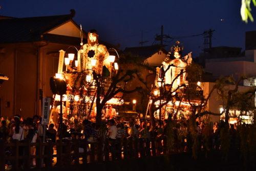 佐原の大祭夏祭り夜