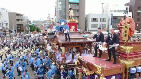 成田祇園祭駅前