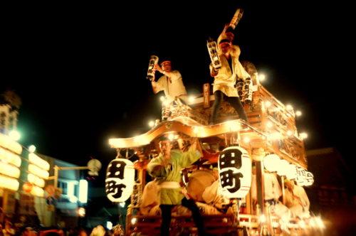 成田祇園祭ライトアップ