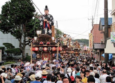 佐原の大祭夏祭り山車整列