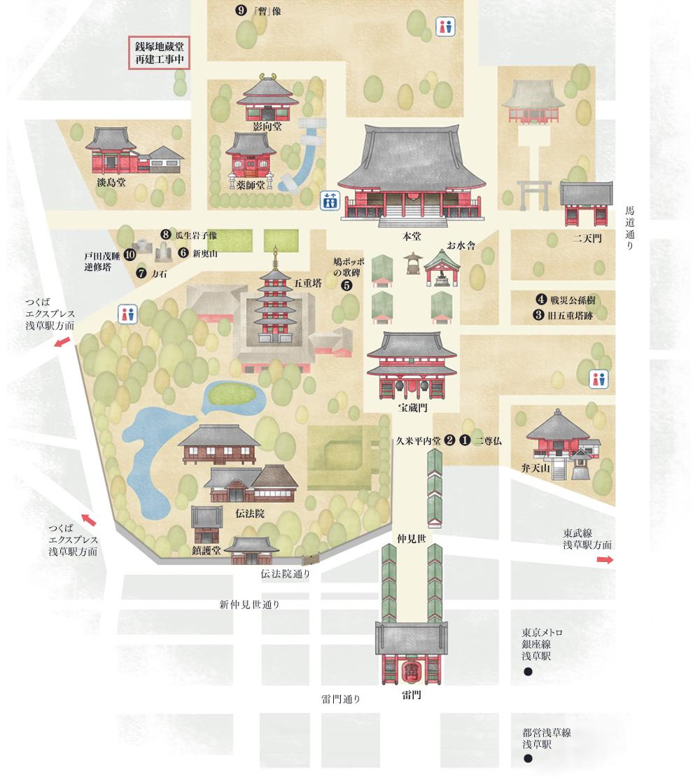 浅草寺境内マップ