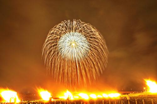 南部の火祭り花火