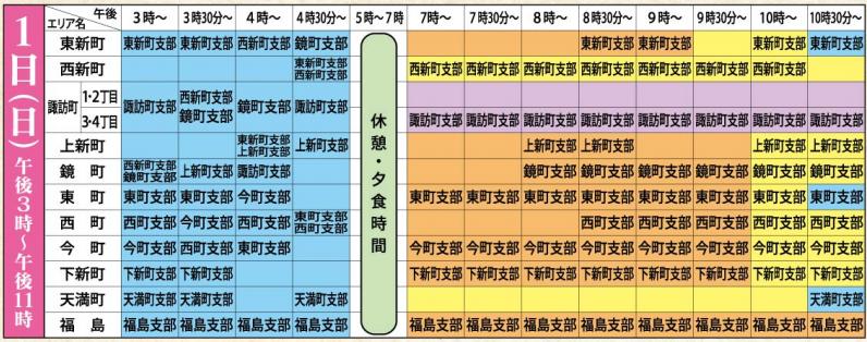 おわら風の盆2019スケジュール1