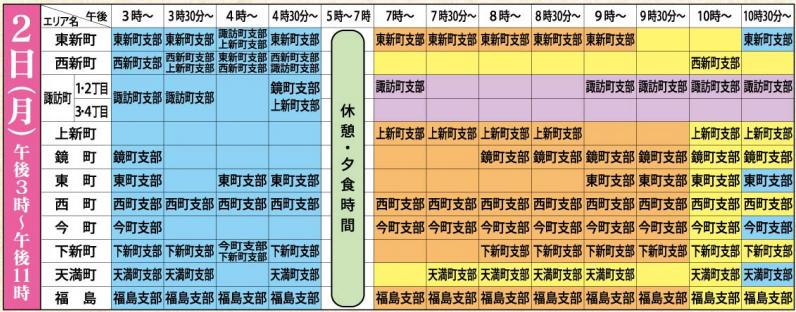おわら風の盆2019スケジュール2