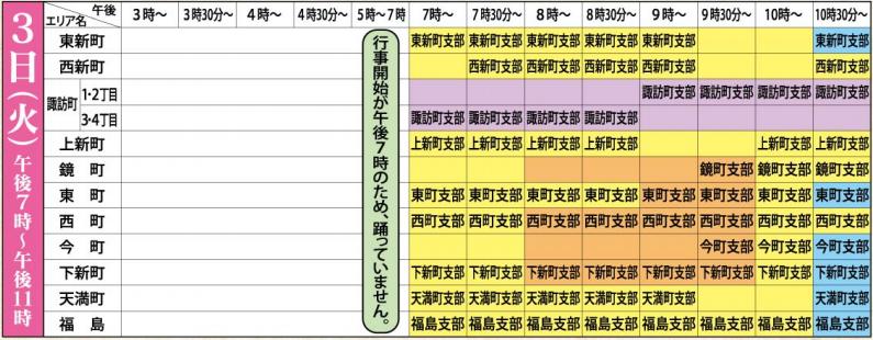 おわら風の盆2019スケジュール3