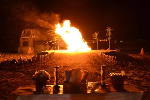 南部の火祭り大松明