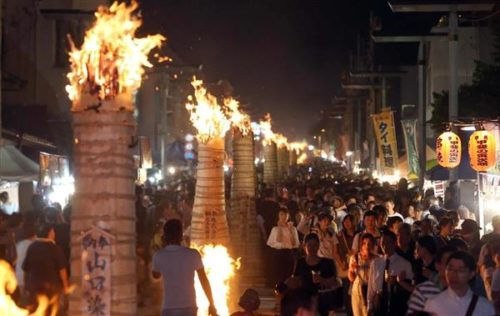 吉田の火祭り大松明