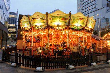 ドイツクリスマスマーケット大阪メリーゴーランド