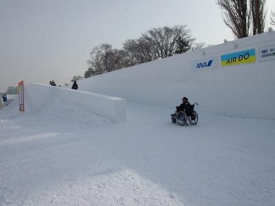 旭川冬まつり車椅子
