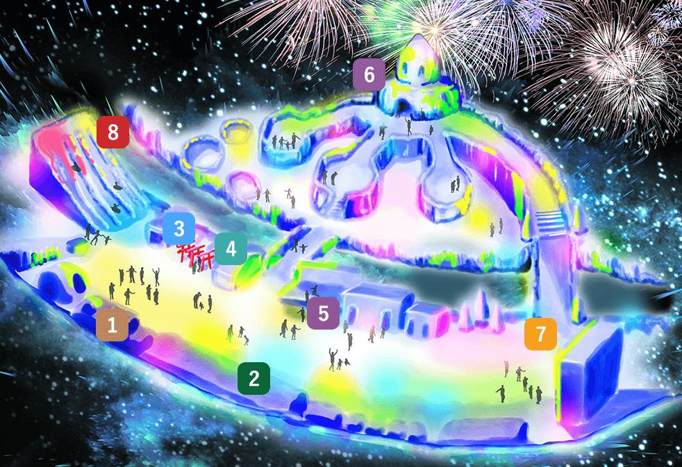 層雲峡氷瀑まつり2020会場図
