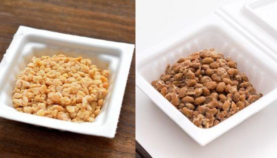 ひきわり納豆と粒納豆