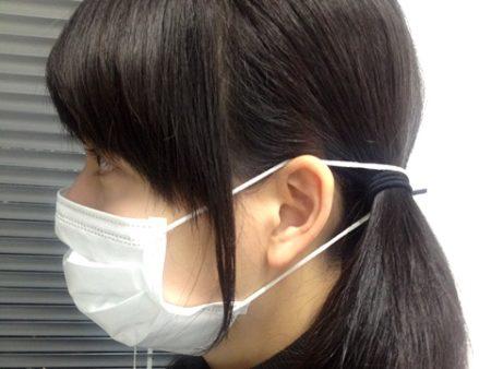 マスク髪にかける