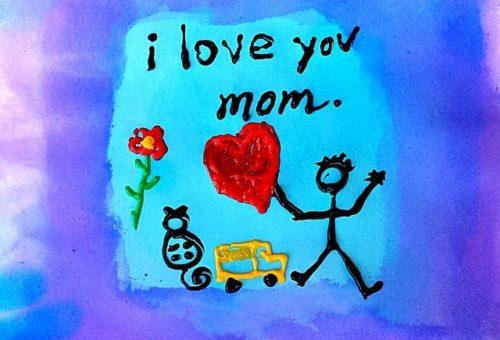 母の日のお絵かき