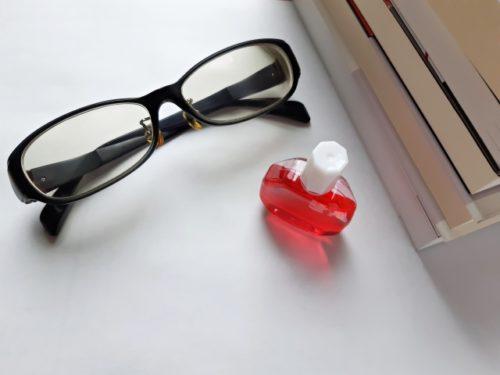 メガネと目薬