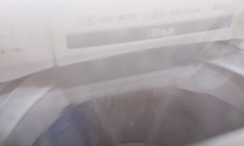 洗濯機にお湯を入れる