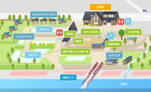 ケニーズファミリーキャンプ場マップ