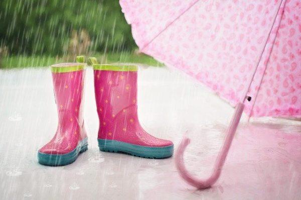 雨と長靴と傘