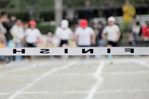 運動会のゴール
