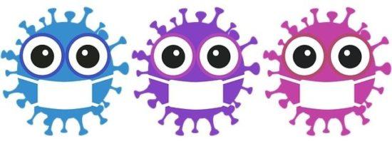 3種類のウイルスのイラスト