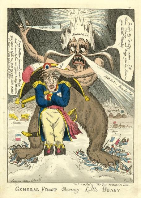 冬将軍とナポレオンの風刺画