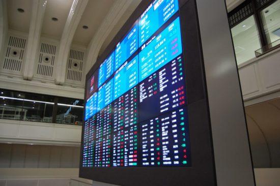 東京証券取引所の株価ボード