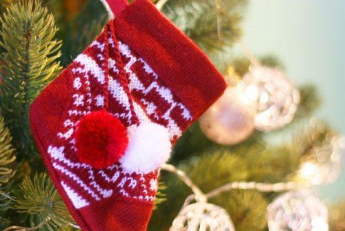 クリスマスツリーの靴下