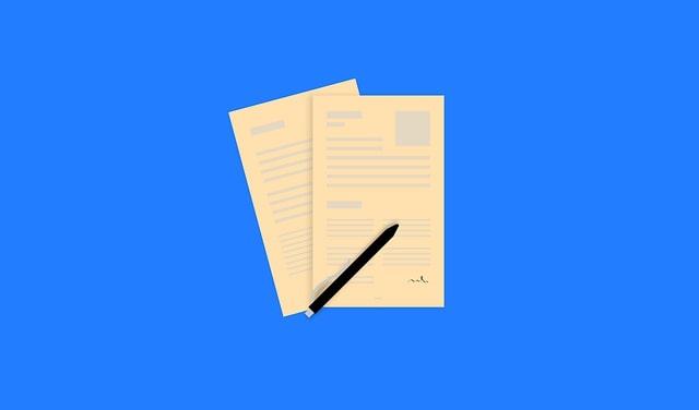 申請用紙のイラスト