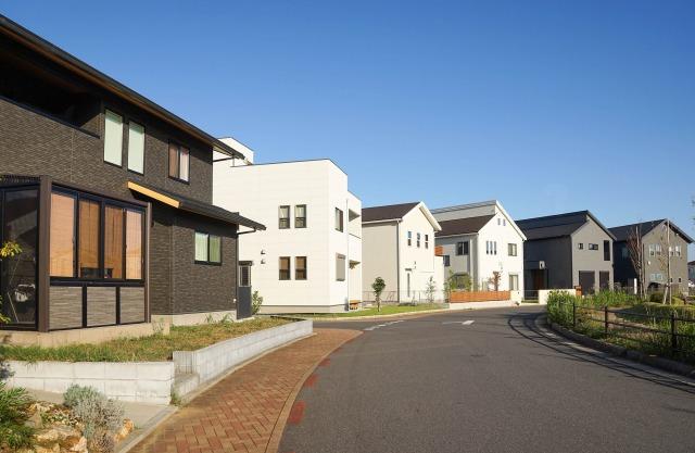 無電柱化された新興住宅