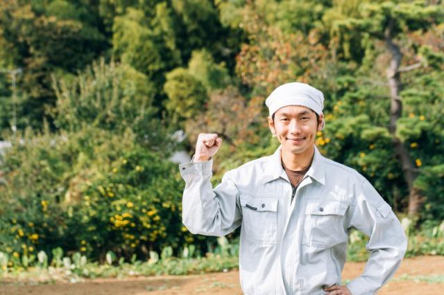 農家を応援する男性